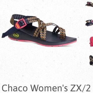 Chaco crest citrus sandals woman's size 7